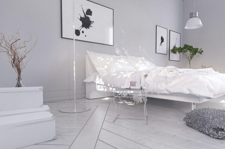 Ein schickes Bett sorgt für eine stilvolle Atmosphäre. (Bild: © XtravaganT - Fotolia.com)